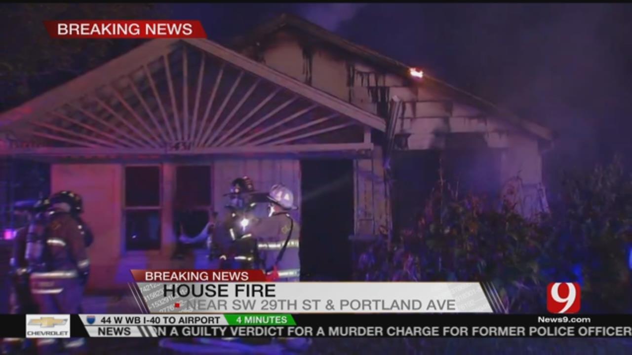 OKCFD Battles House Fire On SW Side