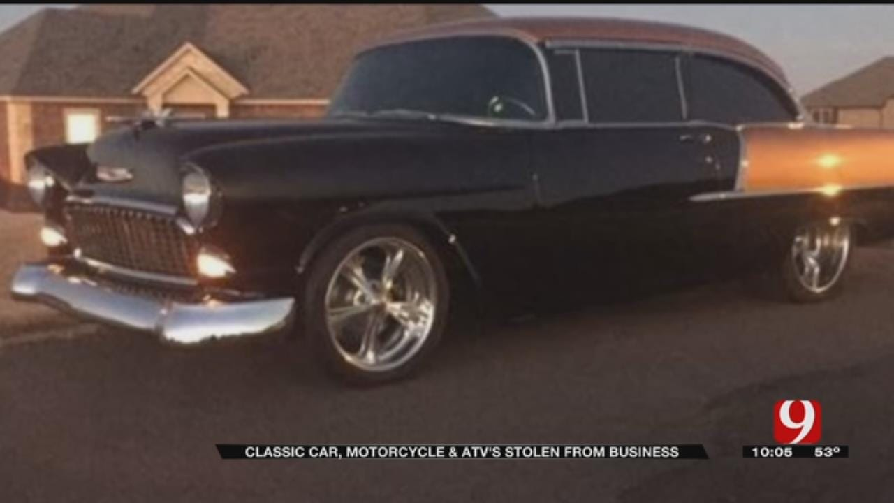 Classic Car, Motorcycle And ATV's Stolen From OKC Business