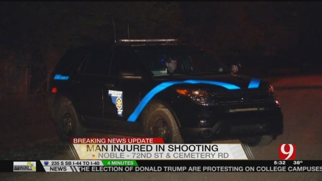 Man Hospitalized After Being Shot Near Noble