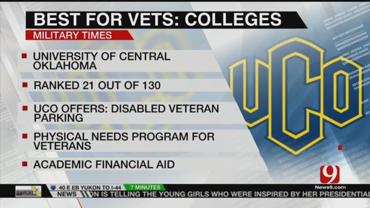 UCO Earns Top Marks On Best Schools For Vets List