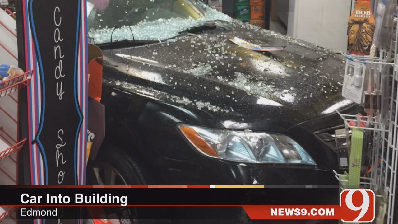 WEB EXTRA: Car Crashed Into Edmond Convenience Store