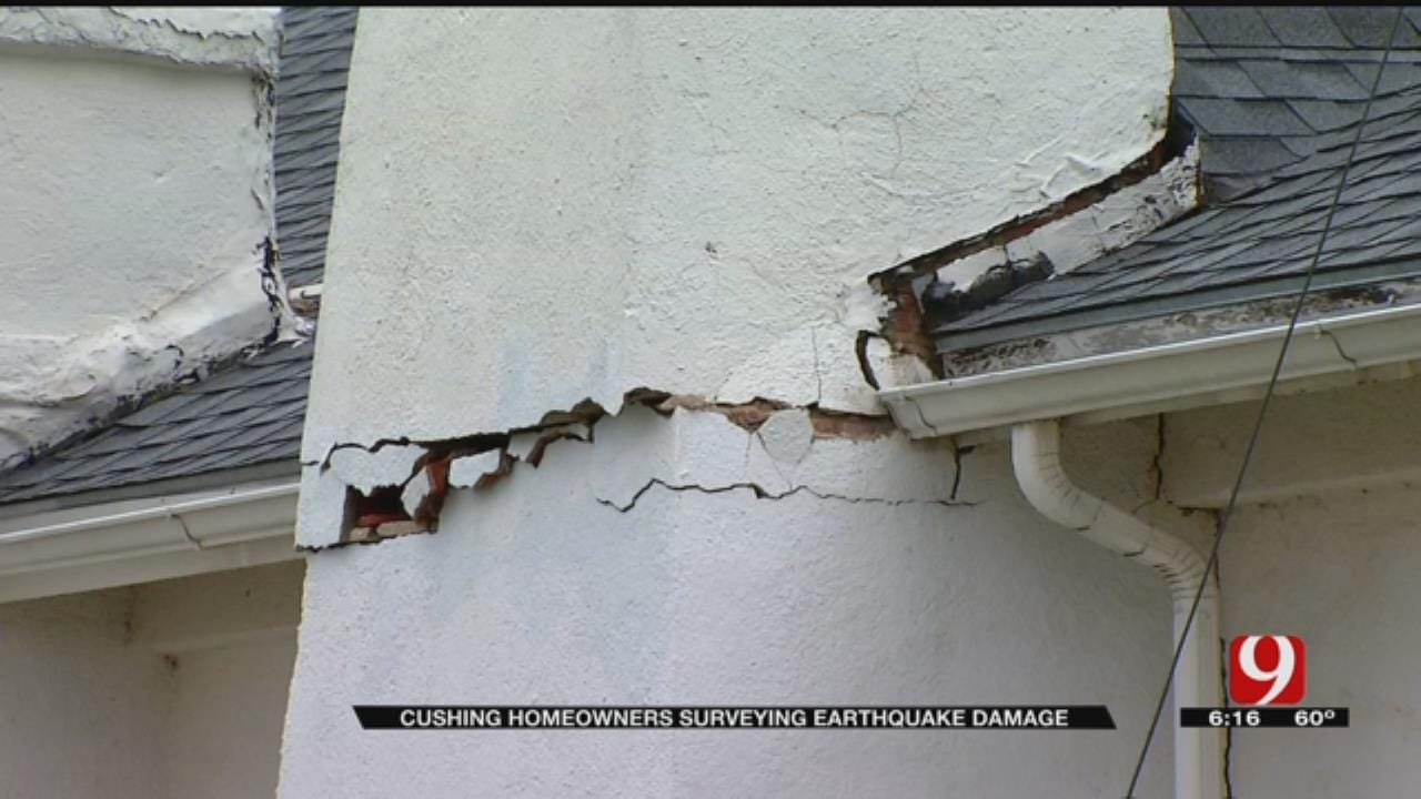 25 To 30 Homes Reported Damaged In Cushing Earthquake