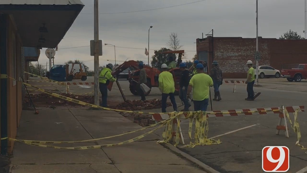 Downtown Becoming More Accessible As Cushing Clean-up Continues