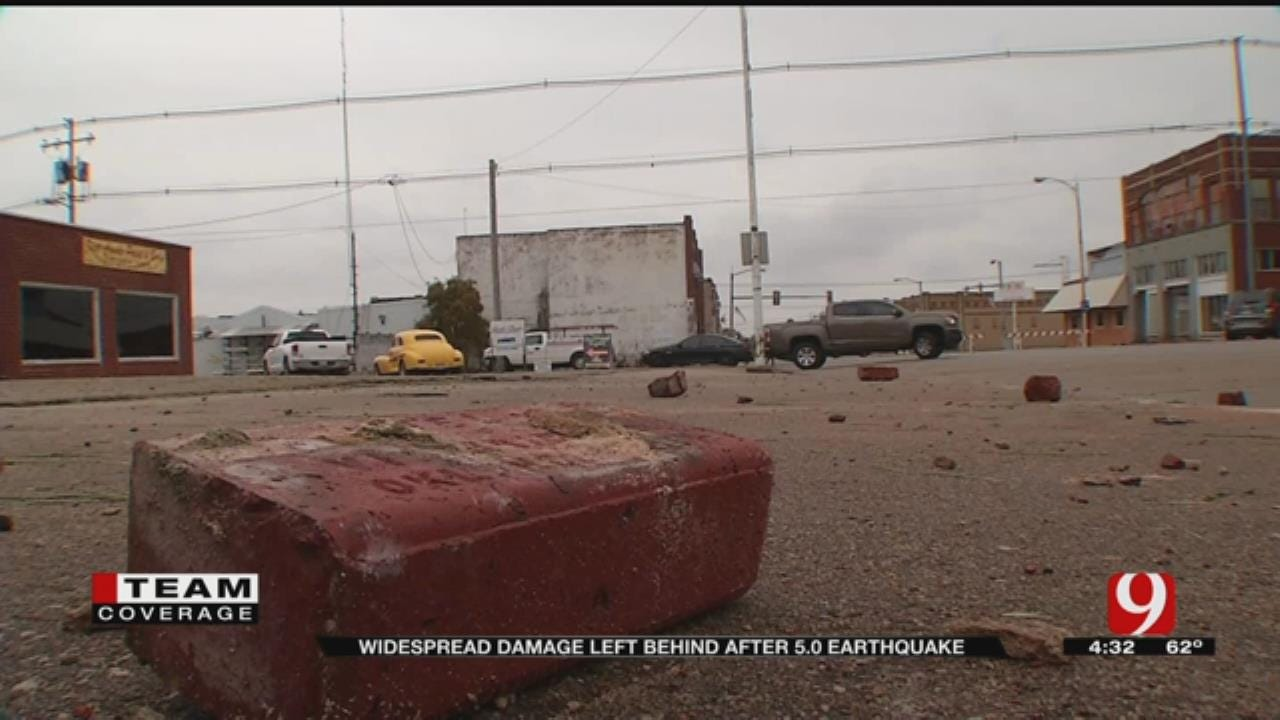 Clean-Up Begins In Cushing After Quake