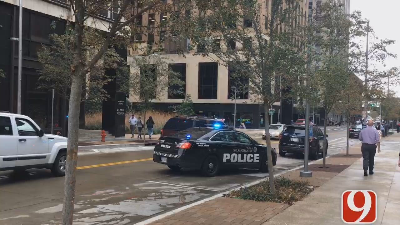 Police Officer Involved In Scuffle At Downtown OKC Bank