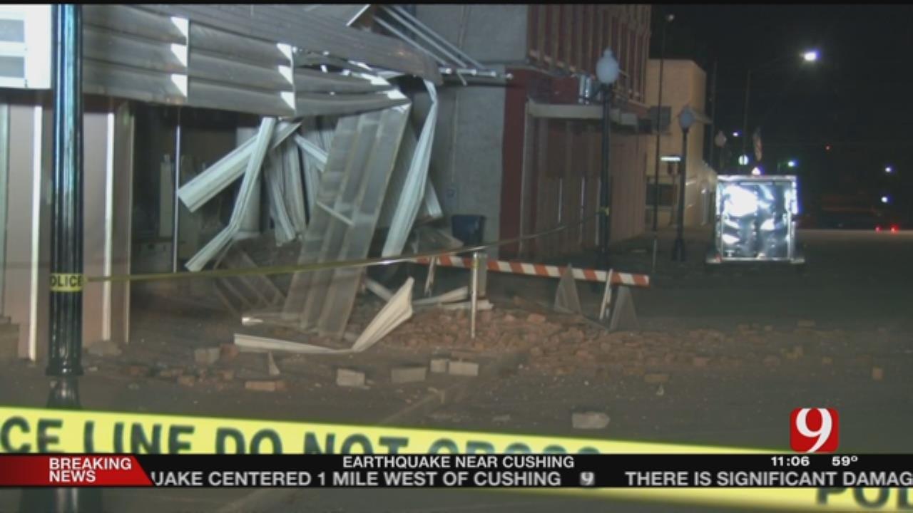 Cushing Residents Talk About Earthquake, Damage