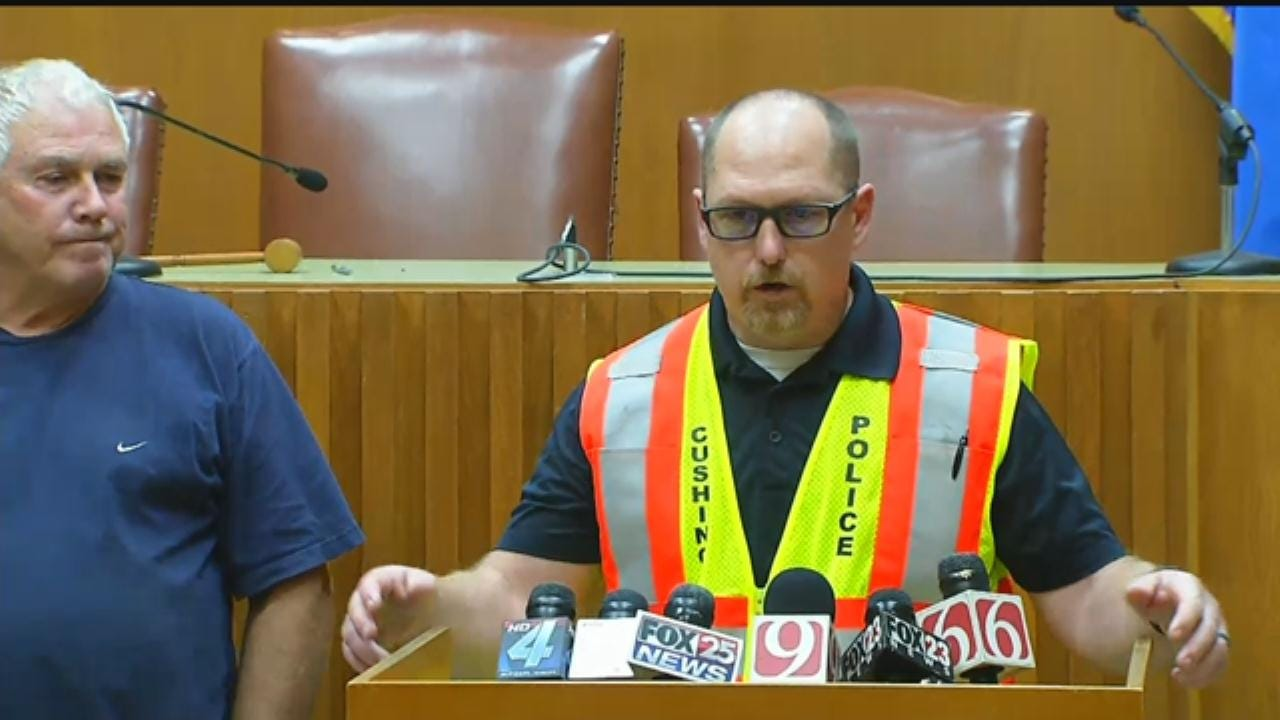 WEB EXTRA: Cushing News Conference After Earthquake