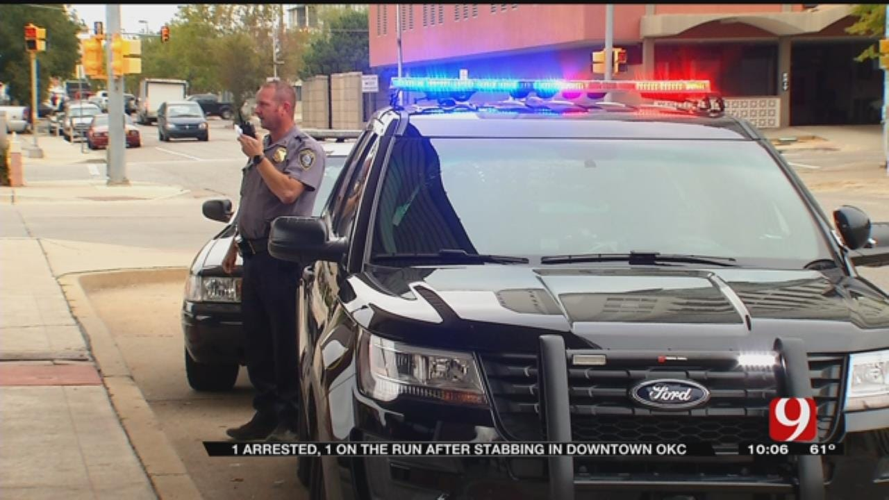 One Arrested, One On The Run After Stabbing In Downtown OKC