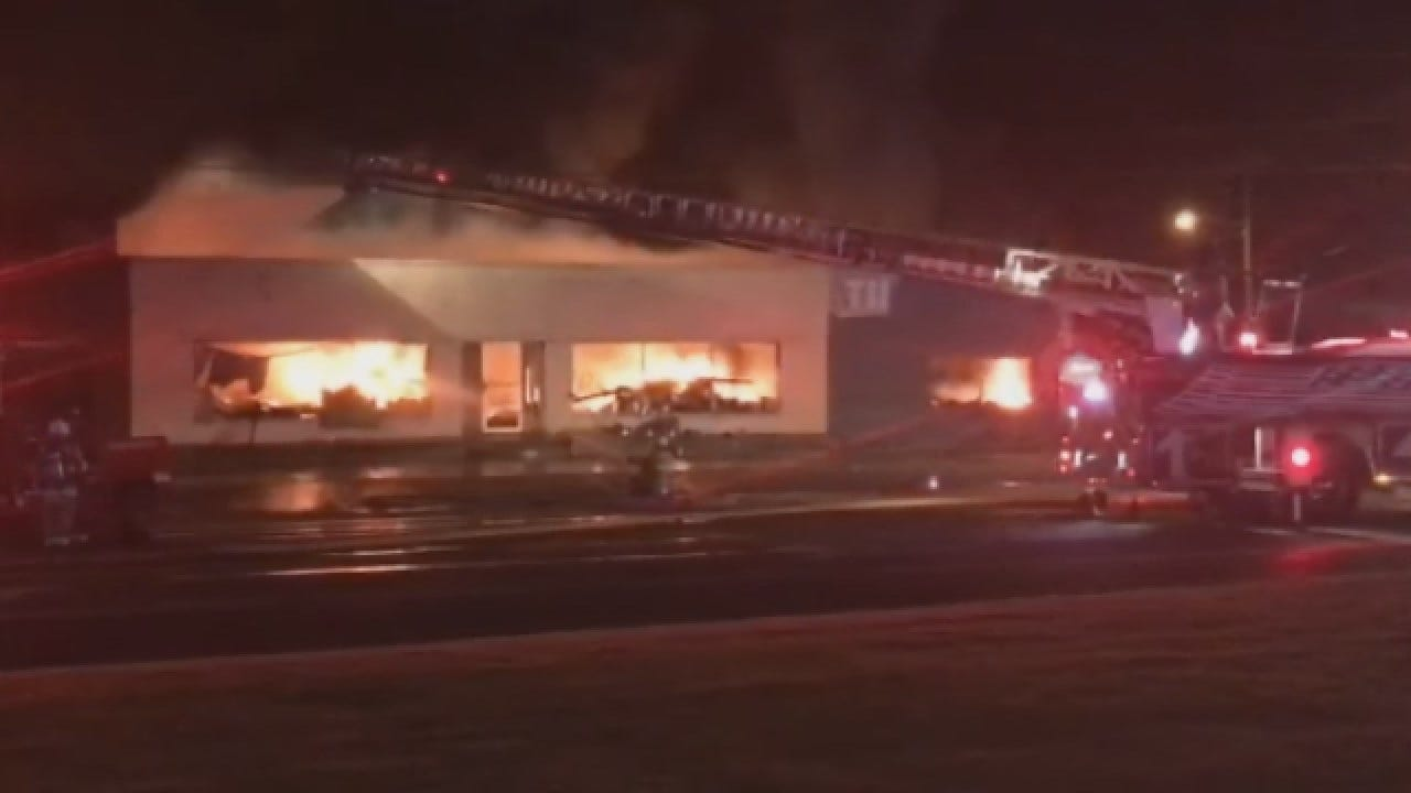 Fire Burns Long At Midwest City Tire Shop