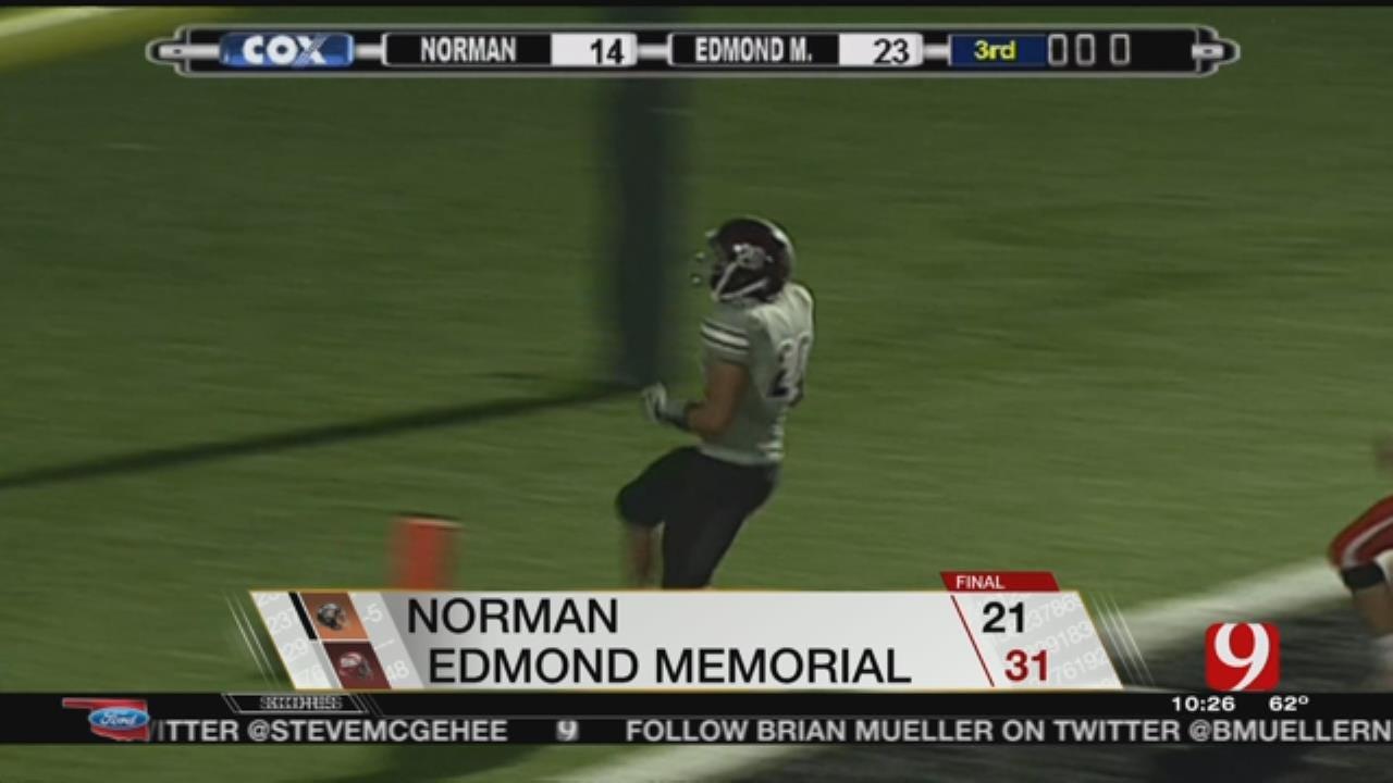 Memorial Beats Norman, 31-21