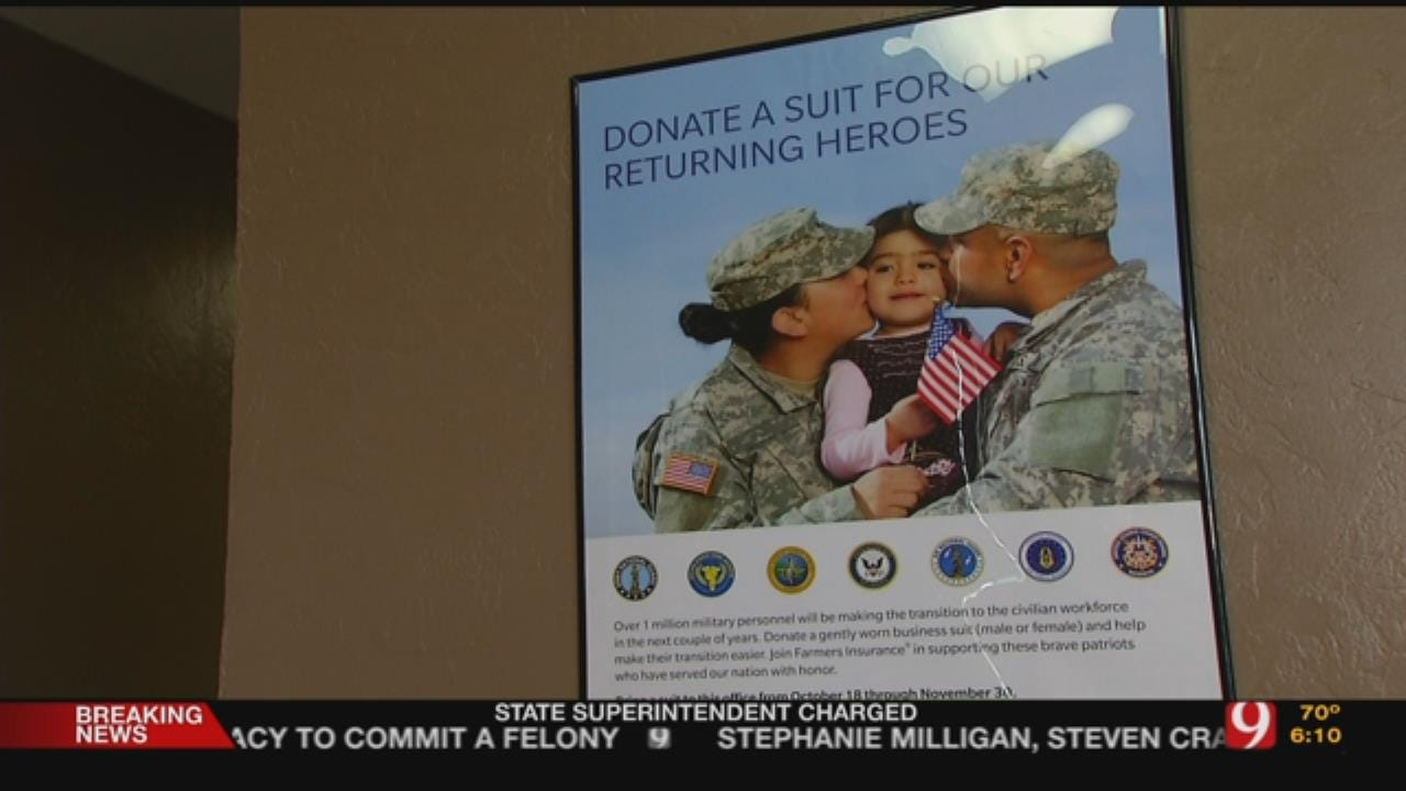 Farmers Insurance Collects Suits For Soldiers