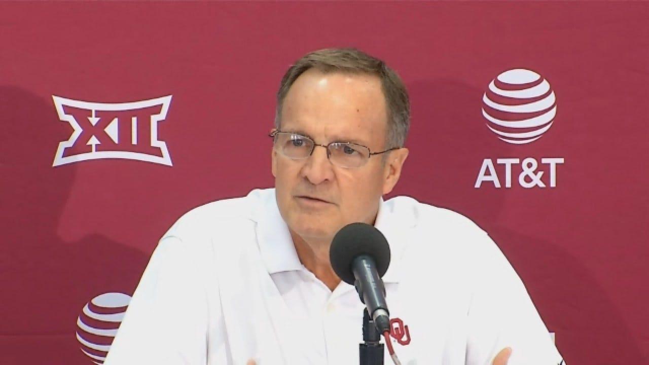 Lon Kruger Talks At OU Men's Basketball Media Day