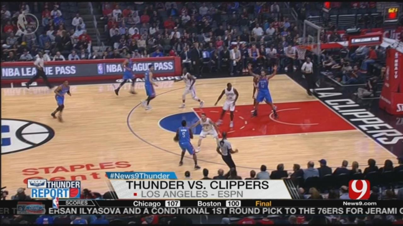 Thunder Beats Clippers, 85-83