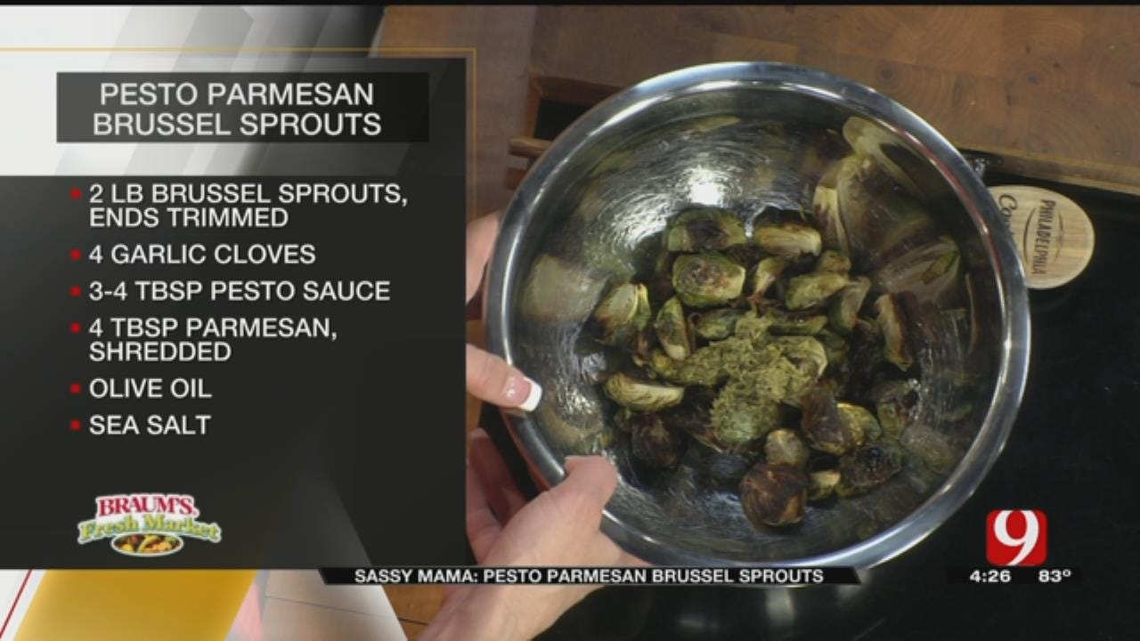 Pesto Parmesan Brussels Sprouts