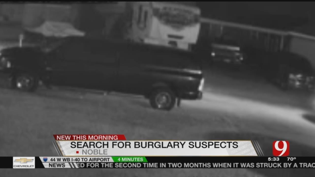Police Search For Car Burglars In Noble