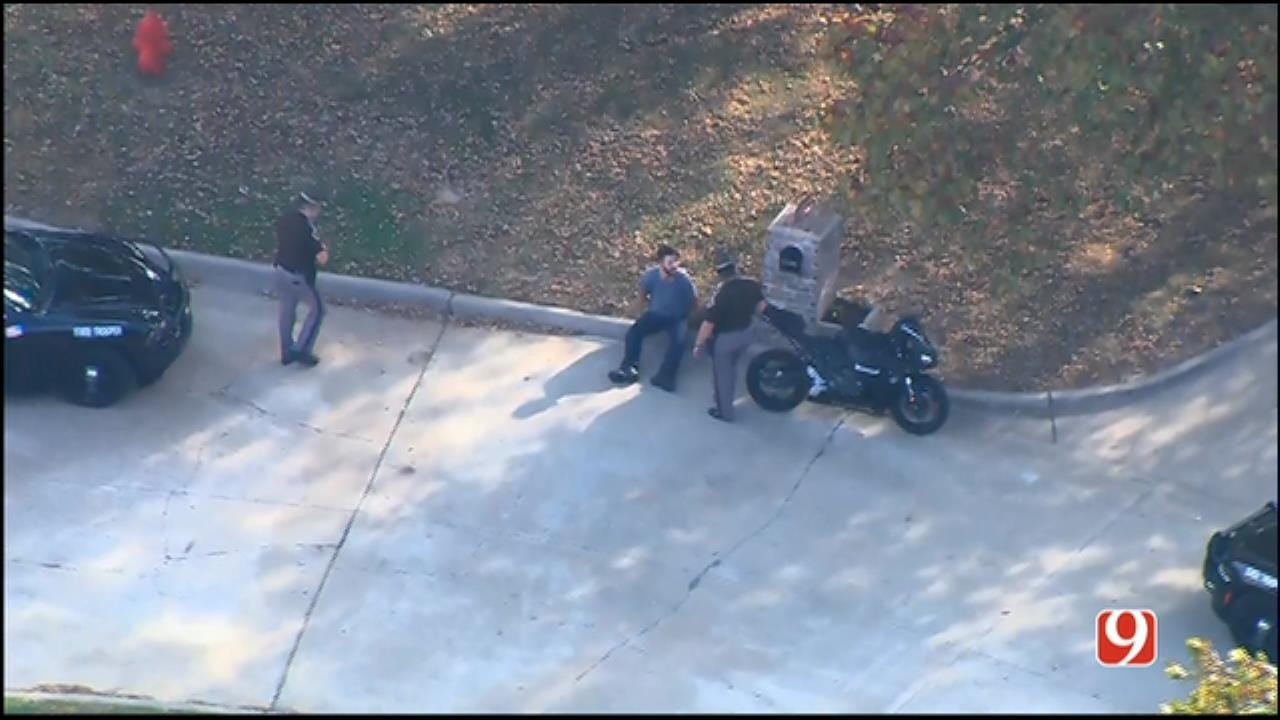WEB EXTRA: SkyNews 9 Flies Over End Of Police Pursuit In NW OKC