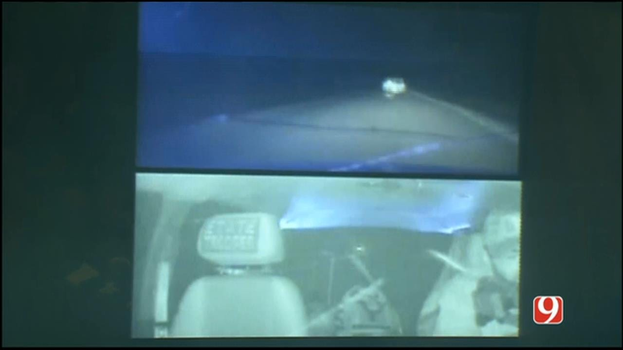 WEB EXTRA: Dashcam Video Shows OHP Trooper Shooting Through Wind Shield During Michael Vance Shootout