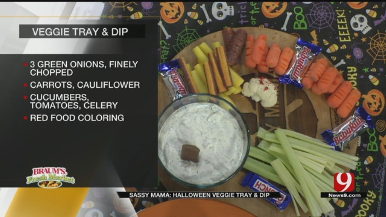 Halloween Veggie Tray & Dip