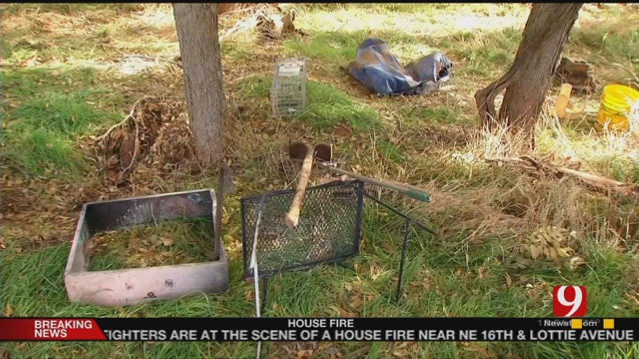 News 9 Visits Michael Vance's Camp Site