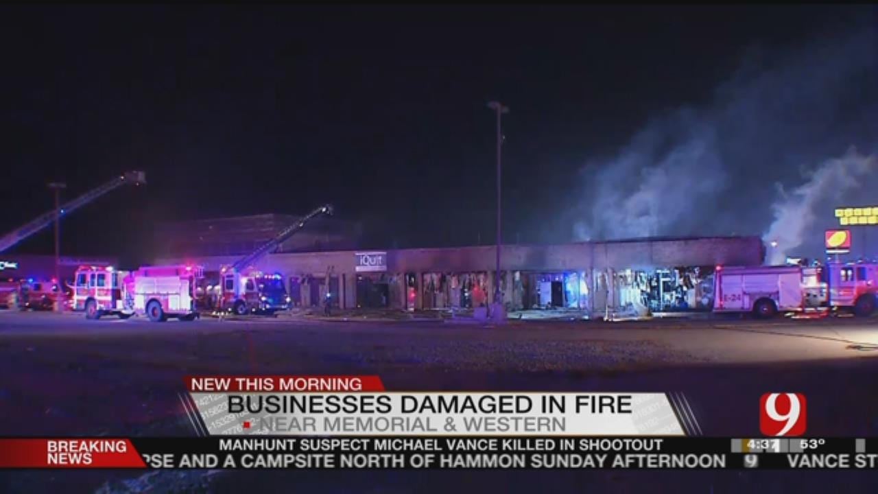 Firefighters Battle Commercial Fire In NW OKC