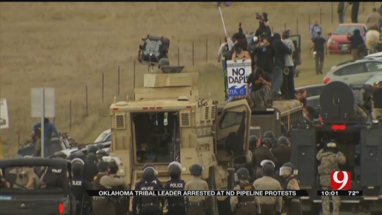 Oklahoma Tribal Leader Arrested at Dakota Access Pipeline Site