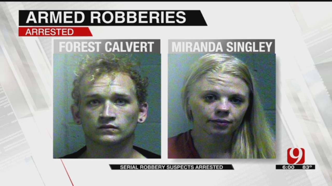 Couple Arrested In Series Of Armed Robberies Across OKC Metro