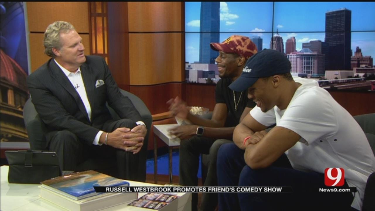 Russell Westbrook Promotes Friend's Comedy Show