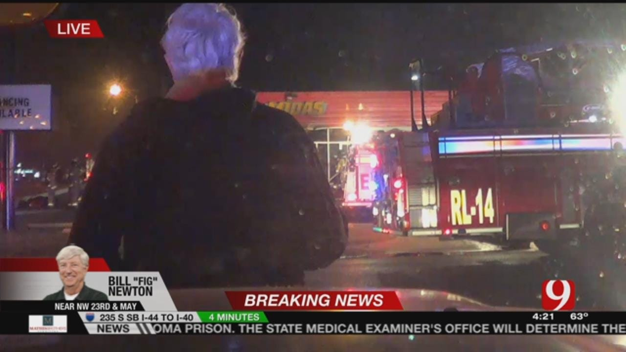 Local Business Catches Fire In NW OKC