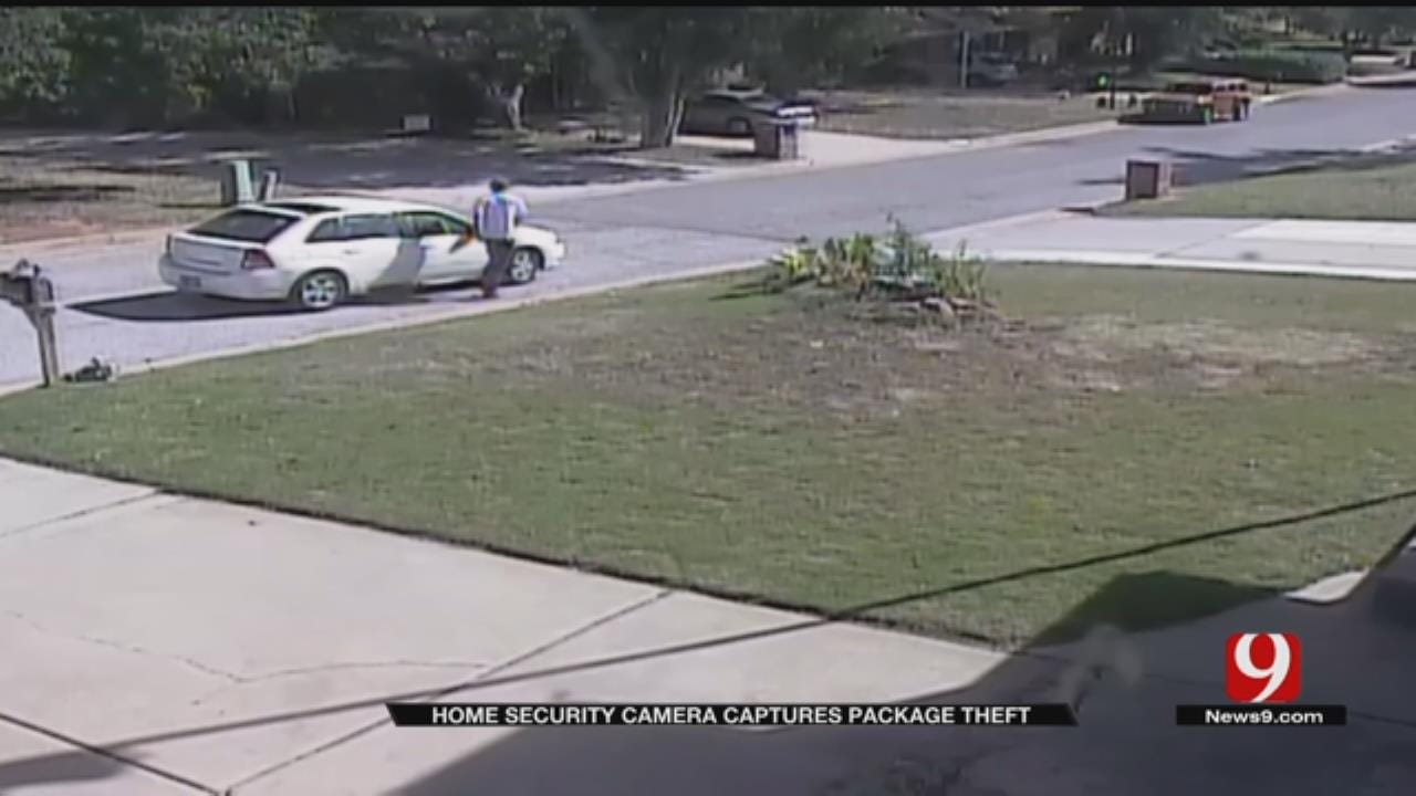 Security Cameras Capture Reported Package Thief In NW OKC