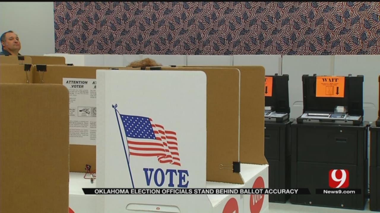 Oklahoma State Election Board Stands Behind Ballot Accuracy