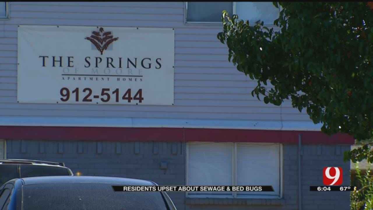 Tenants Complain About Raw Sewage, Bed Bugs At Moore Apartment Complex