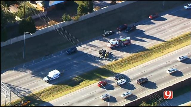WEB EXTRA: SkyNews 9 Flies Over Multi-Vehicle Crash On SB Hefner Parkway
