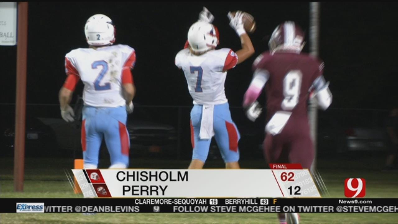 Chisholm Beats Perry, 62-12