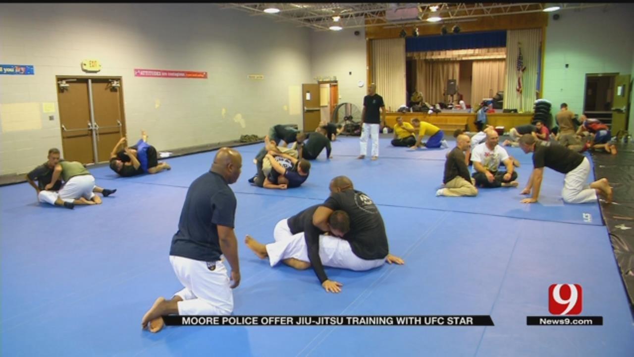 UFC's Royce Gracie Teaches Police Officers Jiu-Jitsu