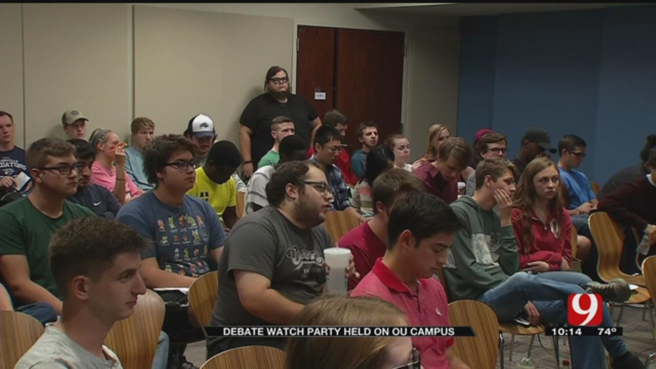 Hundreds Gather To Watch Presidential Debate At OU Watch Party