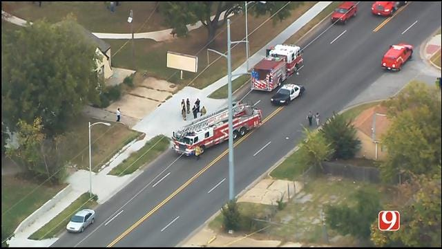 WEB EXTRA: SkyNews 9 Flies Over Deadly Auto-Ped Crash In NW OKC