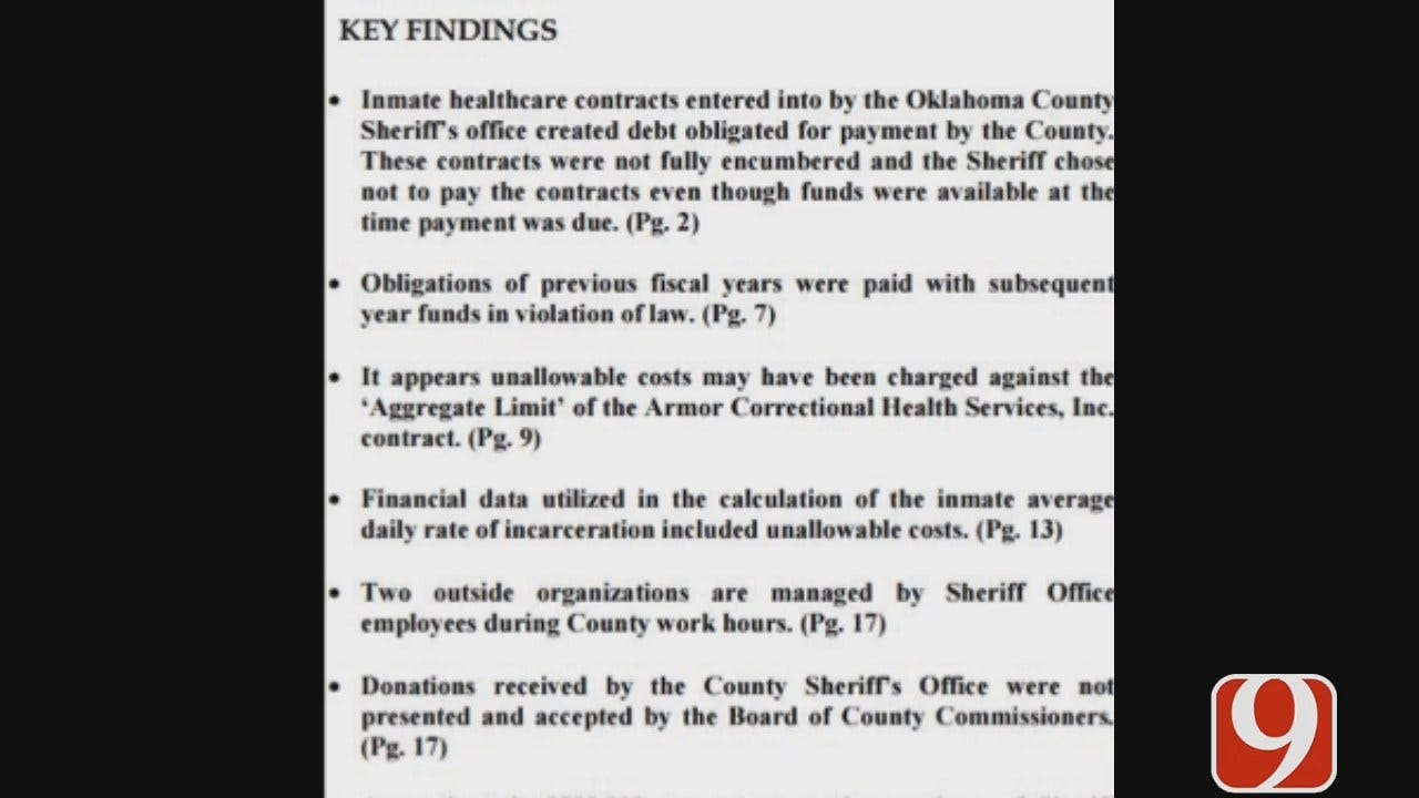 Audit On OCSO Shows Improper Donations, Misleading Accounting