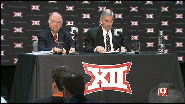 David Boren And Bob Bowlsby Hold Big 12 Expansion News Conference