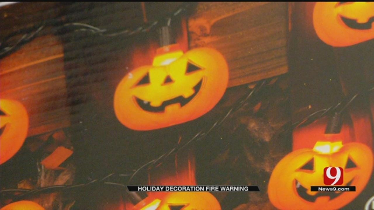 OKCFD Warns Of Flammable Holiday Decorations