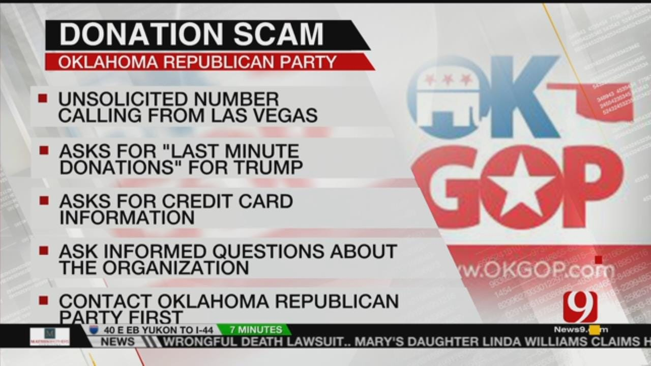 OKGOP Warns Of Fundraising Phone Scam
