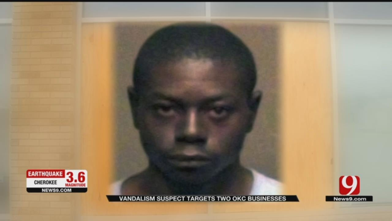 Vandalism Suspect Targets Two OKC Businesses