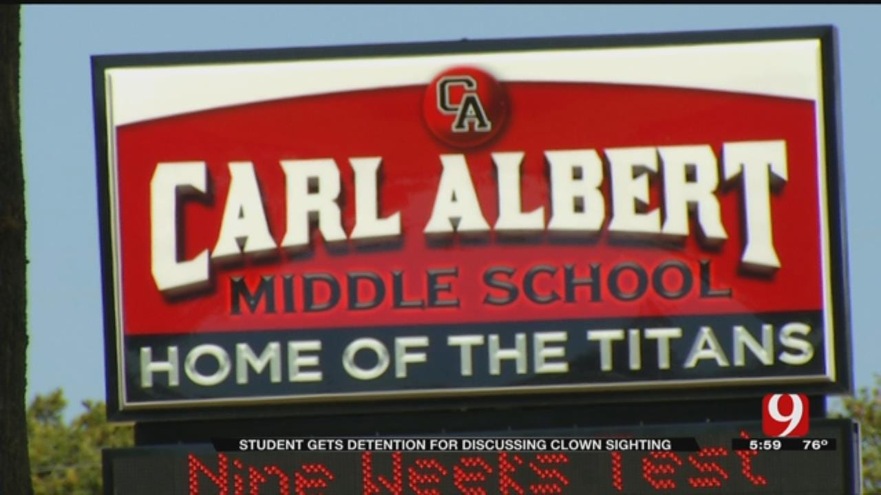 MWC Student Disciplined For Talking About Creepy Clowns In School