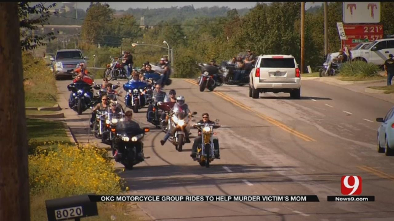 OKC Motorcycle Group Rides To Help Murder Victim's Mother
