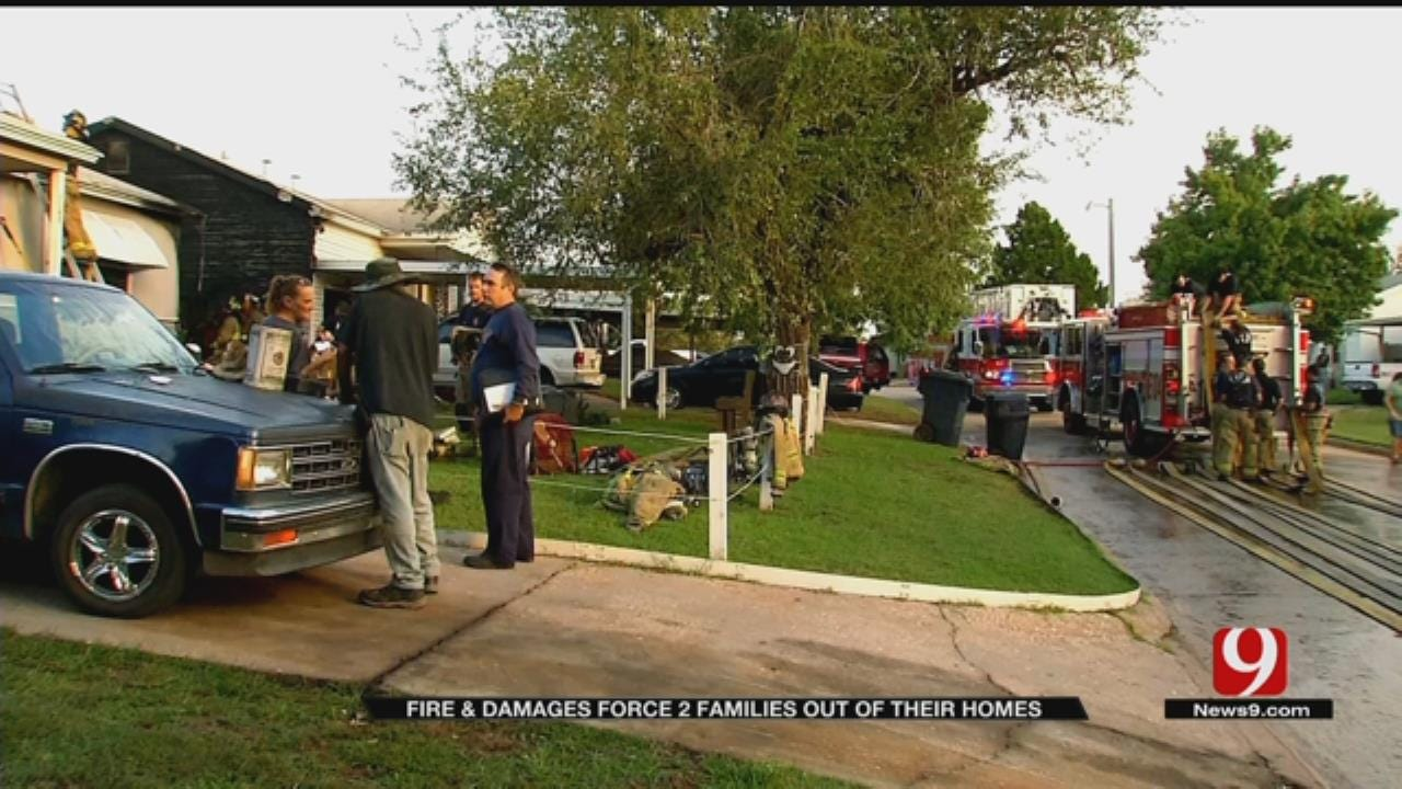 Fire Damages Two Homes In SE OKC