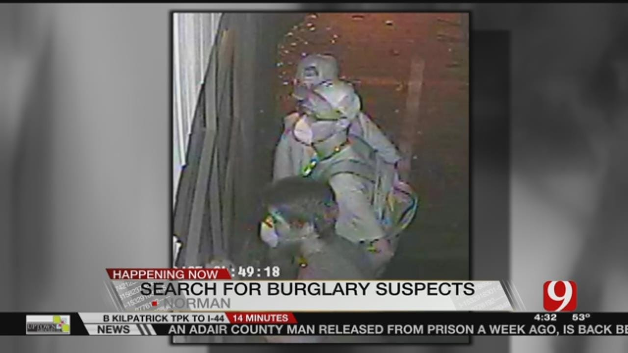 Norman PD Searches For Burglary Suspects Caught On Camera