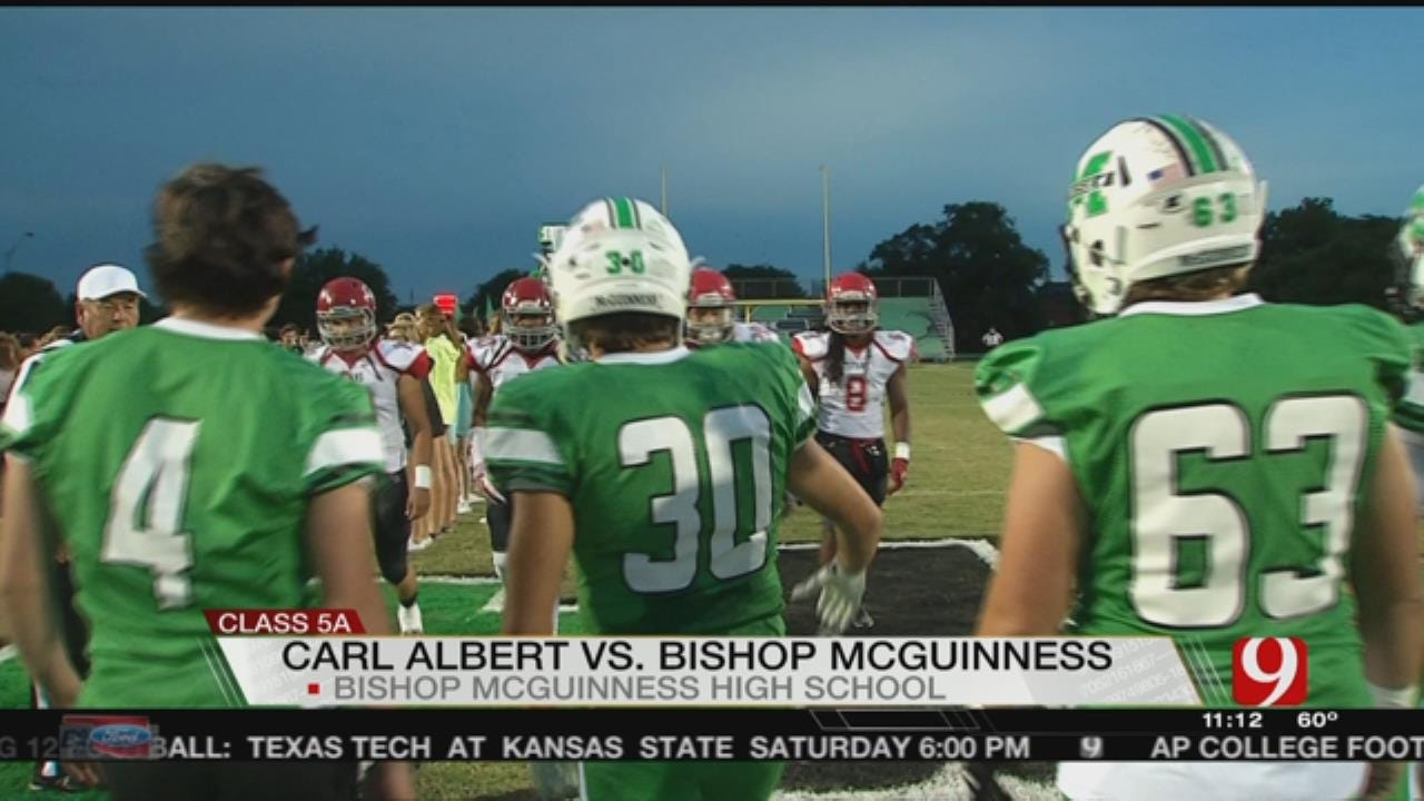 McGuinness Beats Carl Albert, 38-10