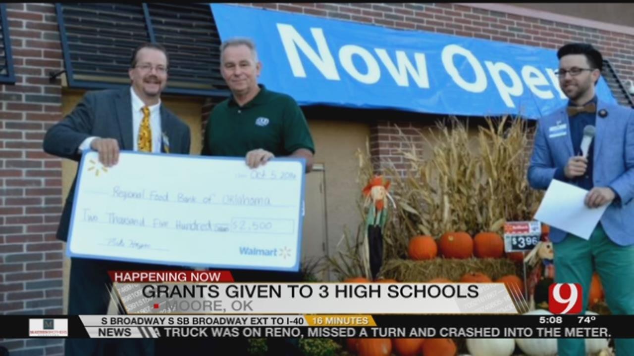 Walmart Presents Grants To Moore Schools At New Store Opening