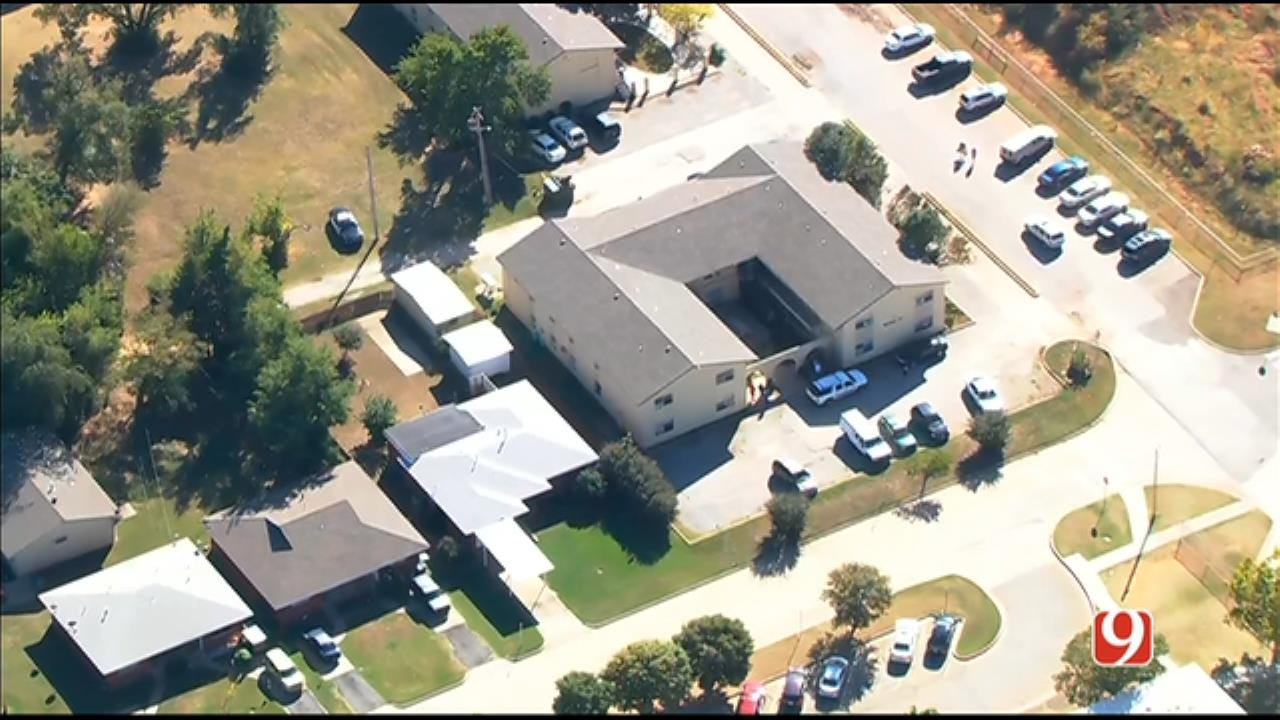 WEB EXTRA: SkyNews 9 Flies Over Investigation After Body Found In Edmond