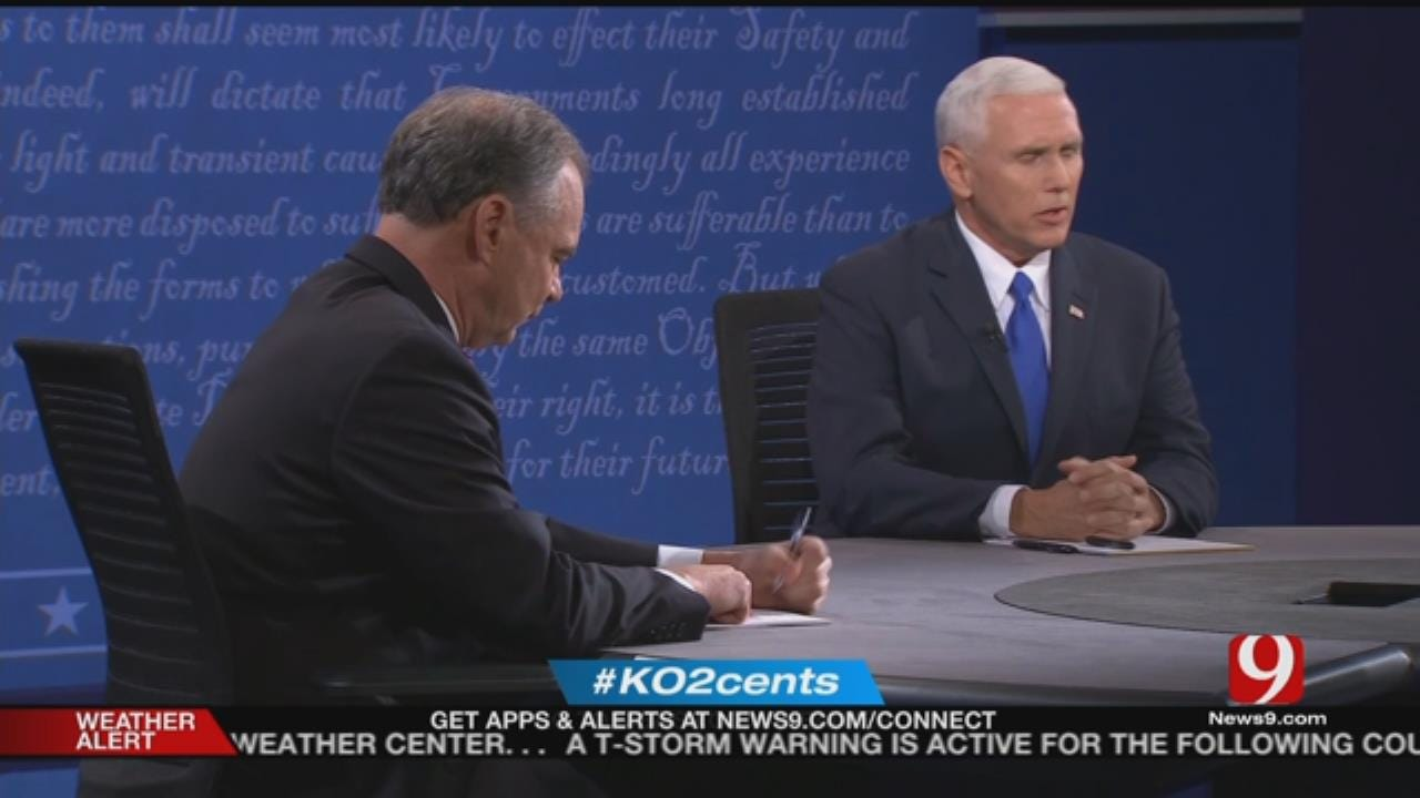 My 2 Cents: The Vice Presidential Debate