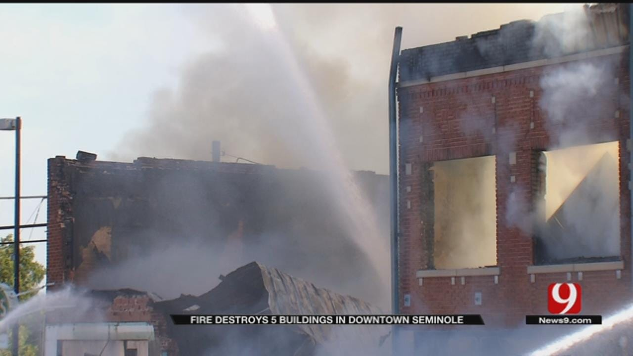 Fire Destroys Five Historic Buildings In Downtown Seminole